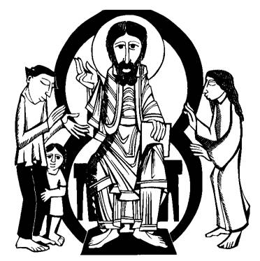 Christ_with_family_Escroll