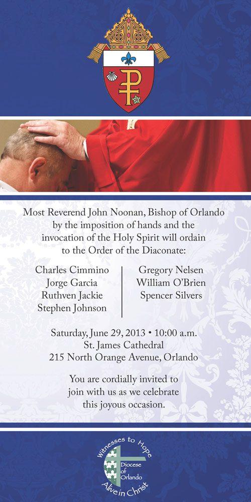 deacon ordination invite