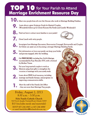 Marriage Enrichment Resource Day