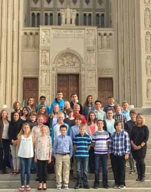 Sacred Heart Students Visit Washington Cathedral and National Shrine