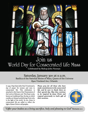 Join Us for the World Day for Consecrated Life Mass