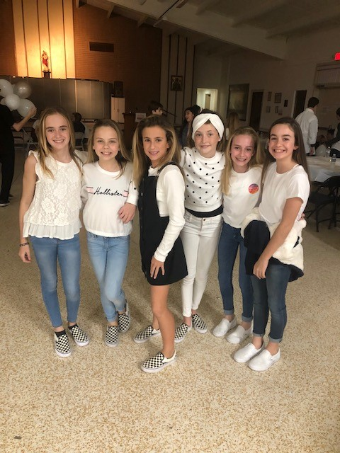 Winter white-out at Sacred Heart School