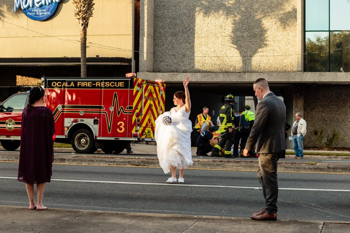 Wedding party to the rescue
